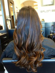 Balayage highlights on natural hair!