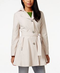 15 Cute Raincoats to Keep You Dry This Spring-Best Raincoats for Women Spring- LADYLIKE LAYER Pump up your classic trench with this uber figure flattering skirted version. INC International Concepts Skirted Trench Coat, $99.99; macys.com. Explore our selection of classic trench coats at redbookmag.com.