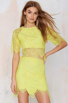 For Love and Lemons Luna Lace Skirt