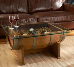 Decorative tables for living room - barrel table glass top | Decolover.net