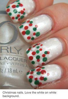 Christmas polka dots