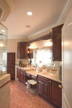 Lots of storage space in this custom designed vanity!