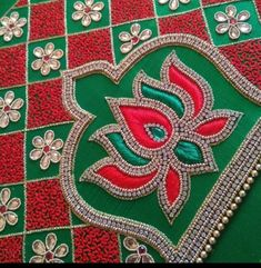 Cutwork Blouse Designs, Best Blouse Designs, Half Saree Designs, Simple Blouse Designs, Diy Embroidery Designs, Embroidery Works, Hand Work Blouse Design, Maggam Work Designs, Sleeves Designs For Dresses
