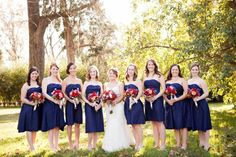 Navy-Bridesmaids (would have to be changed to marine blue but they close)