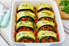 These Burrito Stuffed Zucchini Rolls Make Clean Eating a Breeze!