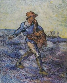 The Sower (after Millet) -Vincent van Gogh hand-painted oil painting reproduction,peasant working field fine art,dinning room wall art decor Van Gogh Pinturas, Vincent Van Gogh, Art Van, Charles Gleyre, Desenhos Van Gogh, Van Gogh Arte, Van Gogh Paintings, Canvas Paintings, Canvas Art