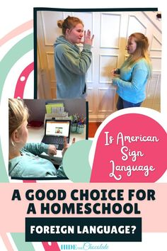 """My daughters asked me if they could take American Sign Language. I immediately said """"Sure"""" and then I started thinking about American Sign Language as a course to fulfill one of the high school requirements. Was it a legitimate choice? Would colleges accept it? And, the research into whether American Sign Language was a good choice for foreign language began. via @hidethechocolate Homeschool Curriculum Reviews, Homeschool High School, Homeschool Kindergarten, Homeschooling, Language Study, Language Lessons, Language Activities, Second Language, English Conversation Learning"""