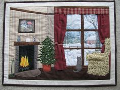 Quilts from 2010 - 2016 Christmas Wall Hangings, Christmas Art, Patch Quilt, Applique Quilts, Quilt Art, Felt Doll House, Cosy Room, Japanese Quilts, Winter Quilts