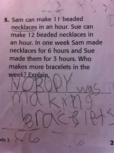 This kid gets an A in my book! :)