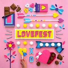 art direction | love fest - tommy perez