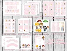 Star Wars Baby Girl Shower Party Pack, Star Wars Baby Shower, Instant Download, Printable