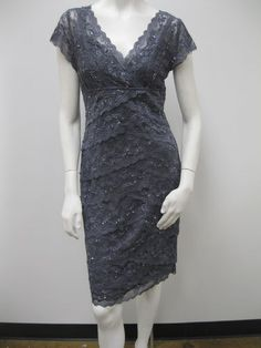 pretty grey bridesmaid dress - I think this dress is at le chateau! Mob Dresses, Short Sleeve Dresses, Formal Dresses, Grey Bridesmaid Dresses, Wedding Dresses, Bride Dresses, Bridesmaids, Dress Skirt, Dress Up