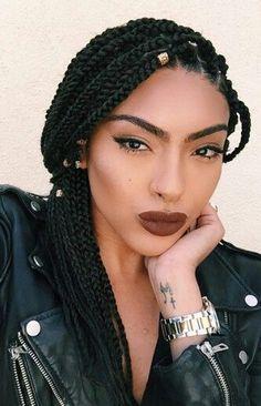 Box Braid Accessories • Braid Charms • Box Braids • Braids • Singles • Protective Styles • Extensions • #BraidedBeauty #BoxBraids (natural hair braid styles eyebrows)