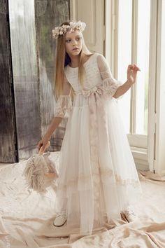 Vestido Sheila. Vestido#Traje#Comunion#Moda#Ceremonia#Hortensia#Maeso#Communion#Dresses#kids