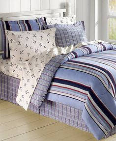 Anchor's Aweigh 8 Piece Reversible Bedding Ensembles
