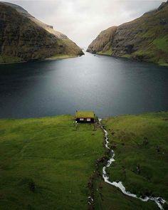 Would you like to live in that little house? Faroe Islands, Denmark - Fadi Khalil - Google+
