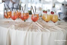 Signature cocktails. If you want to personalize your wedding even more!