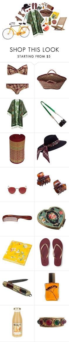 """""""Vamos a la playa!"""" by mel0ody ❤ liked on Polyvore featuring Acqua di Parma, Zimmermann, Soeur, Kite and Butterfly, Ray-Ban, John Lewis, Mason Pearson, Vintage Collection, Michal Negrin and PiP Studio"""