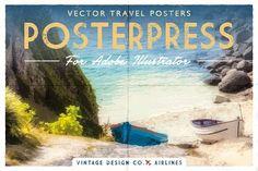 PosterPress for Illustrator by Ian Barnard on @creativemarket