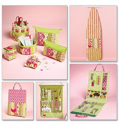Ironing Board Cover, Organizers, Zip Case In 2 Sizes and Pin Cushions. That's a quilting organizer folks! With room for the green board. $11.98