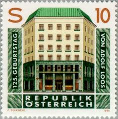 Issued in 1995, Austria - Adolf Loos