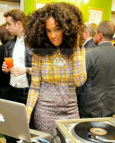 Solange on the 1's & 2's #sexy