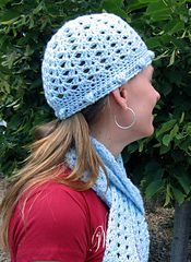 911b9821702 Lacy Shells and Bobbles Hat and Scarf Set