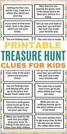 Kids Scavenger Hunt Clues, Easter Scavenger Hunt, Christmas Scavenger Hunt, Scavenger Hunt Birthday, Treasure Hunt Birthday, Clues For Treasure Hunt, Pirate Treasure Hunt For Kids, Treasure Hunt Riddles, Treasure Hunting