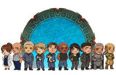 Stargate SG1 Heroes [commission] by *JoannaJohnen on deviantART ( Fraiser, General Hanmond, Jack, Carter, Daniel, Teal'c, Vala, Mitchell, Breatac, Jacob.)