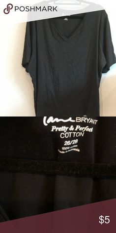 d2eabbcbb93 Lane Bryant Perfect Tee 100% Cotton Black Tee. Very soft and comfy. Lane