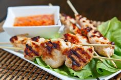 Vietnamese: Grilled Lemongrass Chicken (serving idea included, salad and Vietnamese dipping sauce / dressing)