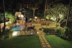 garten terrasse pool gestalten symmetrisch grenzen gehwege …