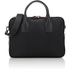 Christian Louboutin Fredo Briefcase (13.940 VEF) ❤ liked on Polyvore featuring mens, men's bags, men's briefcases and black