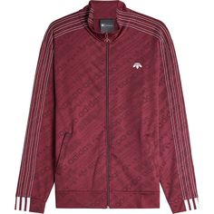 Adidas Originals by Alexander Wang Track Jacket ($225) ❤ liked on Polyvore featuring activewear, activewear jackets, red, warm up jackets, tracksuit jacket, track top and track jacket