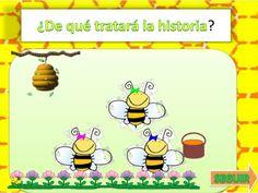 Cuento las abejas juguetonas Bee Happy, Comics, Insects, Kindergarten Teachers, School, Reading Strategies, Science Fair, Preschool Writing, Bees