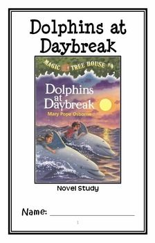 Dolphins at Daybreak: Magic Tree House #9 (Osborne) Novel Study / Comprehension * Follows Common Core Standards *  This 31-page booklet-style Novel Study is designed to follow students throughout the entire book.  The questions are based on reading comprehension, strategies and skills. The novel study is designed to be enjoyable and keep the students engaged.
