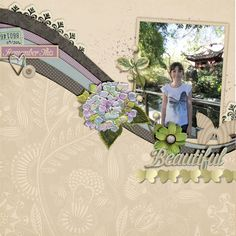 happy sigh page by Justine with The Lilypad products #joycreated