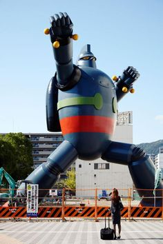 Gigantor Sculpture in Kobe, Japan