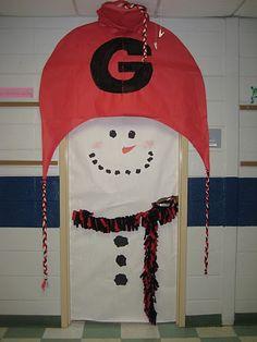 My classroom door for Winter 2012 ~ GO DAWGS!!!!!