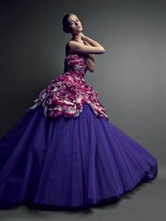 The Dior haute couture gown that has inspired the Dior VIII Grand Bal Haute Couture model No.2.