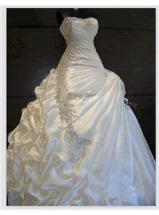 Exquisite A-line ball gown Sweetheart ruffles Beading Wedding Dress Wedding Dresses 2014- ericdress.com 10903439