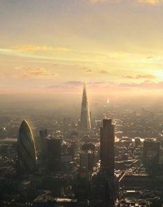 london shard down view