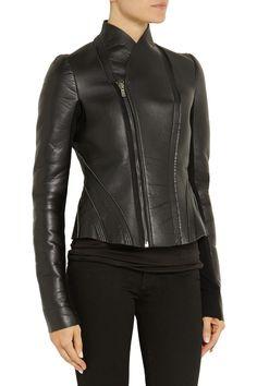 Rick OwensLILIES neoprene-backed leather jacketback