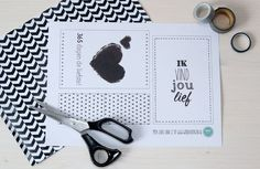 Free printable! Leuke kaarten en cadeaulabels - #wonenvoorjou