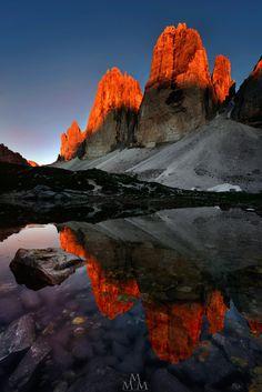"wowtastic-nature: "" 💙 Fiery Peaks... on 500px by Massimo Pistone, La Spezia…"