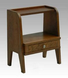 Oak Shelves Book Stand Mid Century Side Table