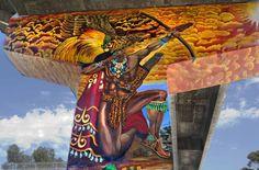 Freeway Art - Chicano Park in Barrio Logan, San Diego, CA