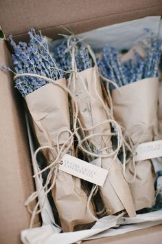 gift wrapped lavender | Pictilio ...something to give to everyone at the wedding??