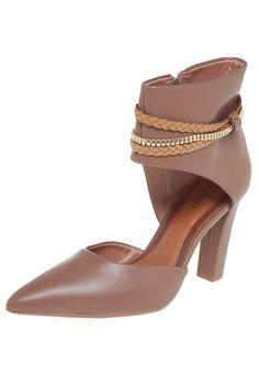 Ankle Boot Crysalis Bico Fino Marrom - Marca Crysalis