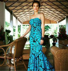 Mena design Hawaiian Fashion, Tropical Fashion, Hawaiian Outfits, New Dress Pattern, Dress Patterns, Tahiti, Samoan Dress, Samoan Designs, Different Dress Styles